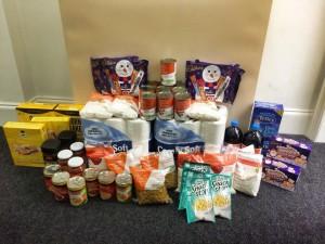 stretford food bank donation 2014